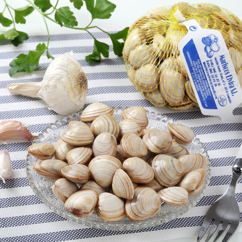 Almeja blanca Carrefour malla de 500 g