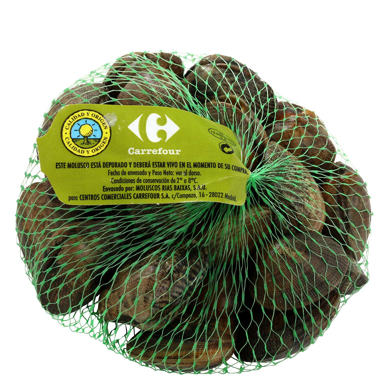 Almeja cultivo Carrefour Calidad y Origen Malla de 500 g