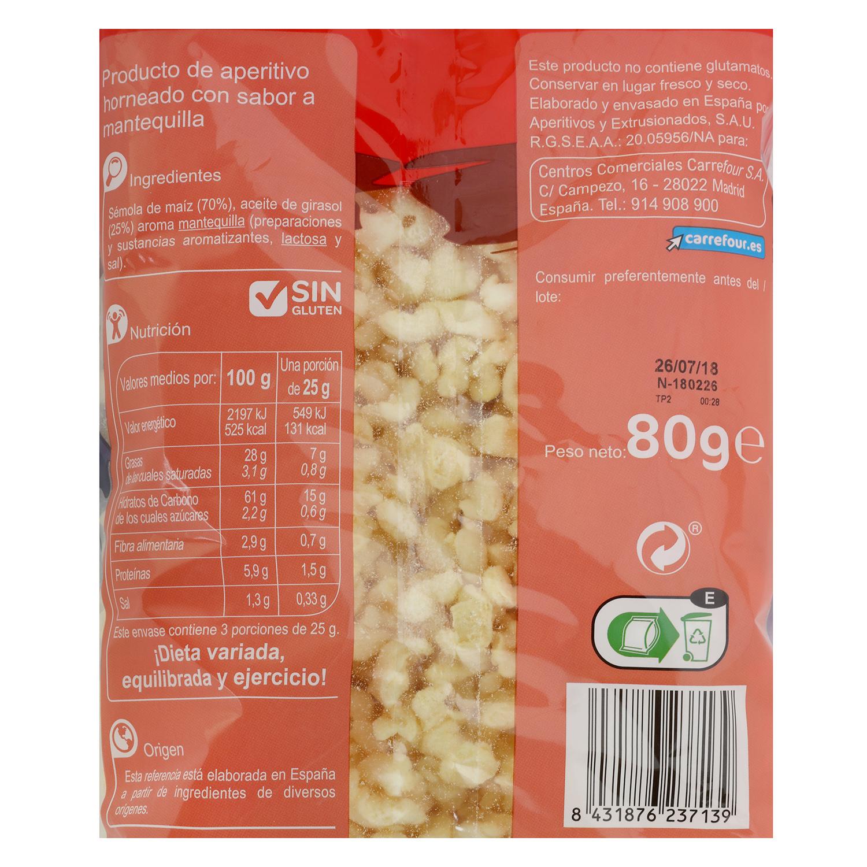 Palomitas sabor mantequilla Carrefour Kids 80 g. -