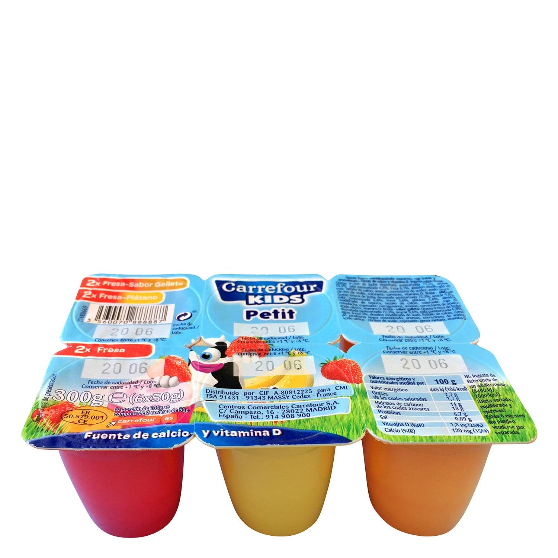 Yogur petit de fresa/plátano/galleta