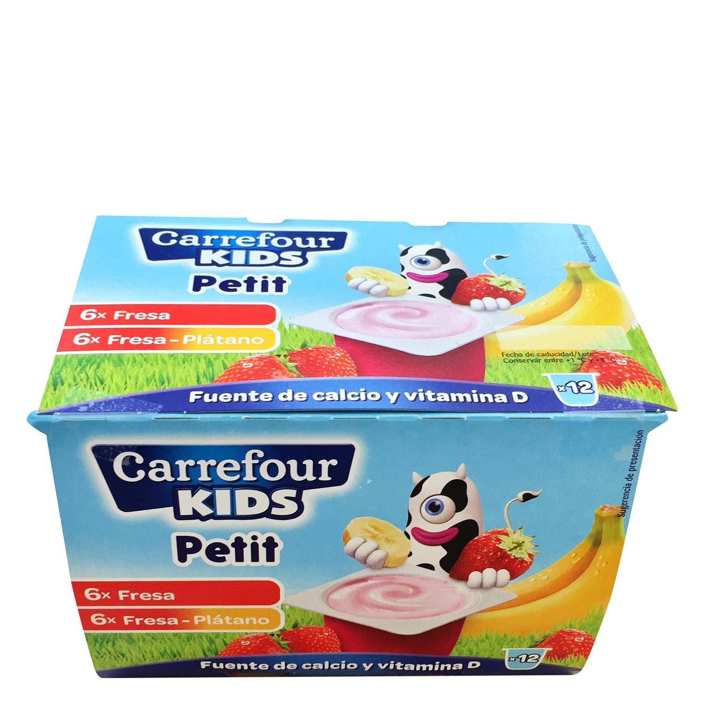 Yogur petit de fresa y de fresa pl tano carrefour kids for Valla infantil carrefour