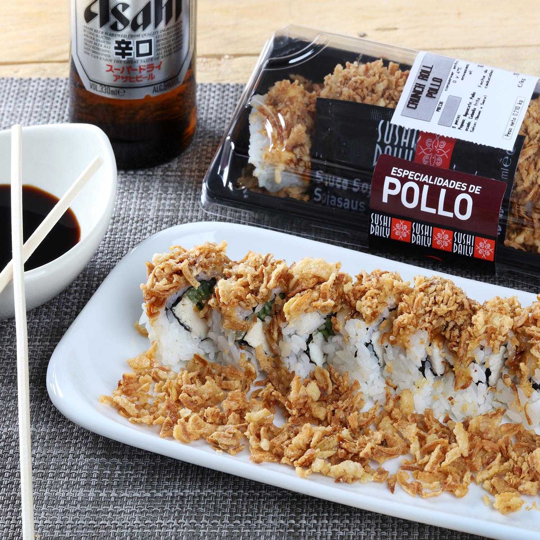 Crunch Roll de pollo Sushi Daily - Carrefour supermercado compra online