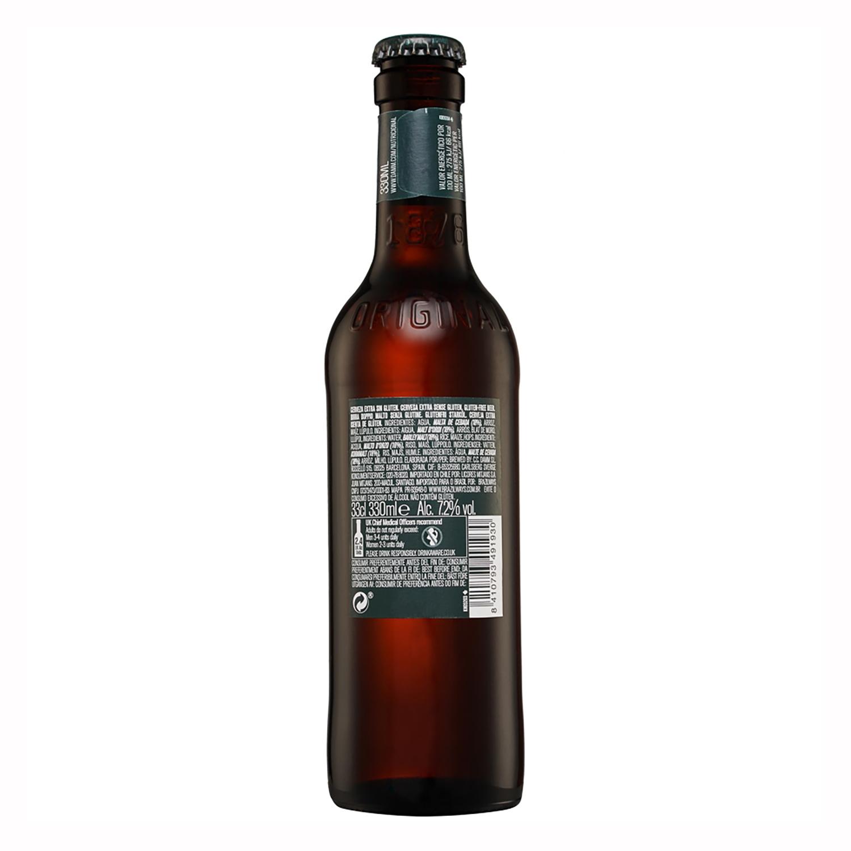 Cerveza Daura Marzen Lager sin gluten botella 33 cl. -