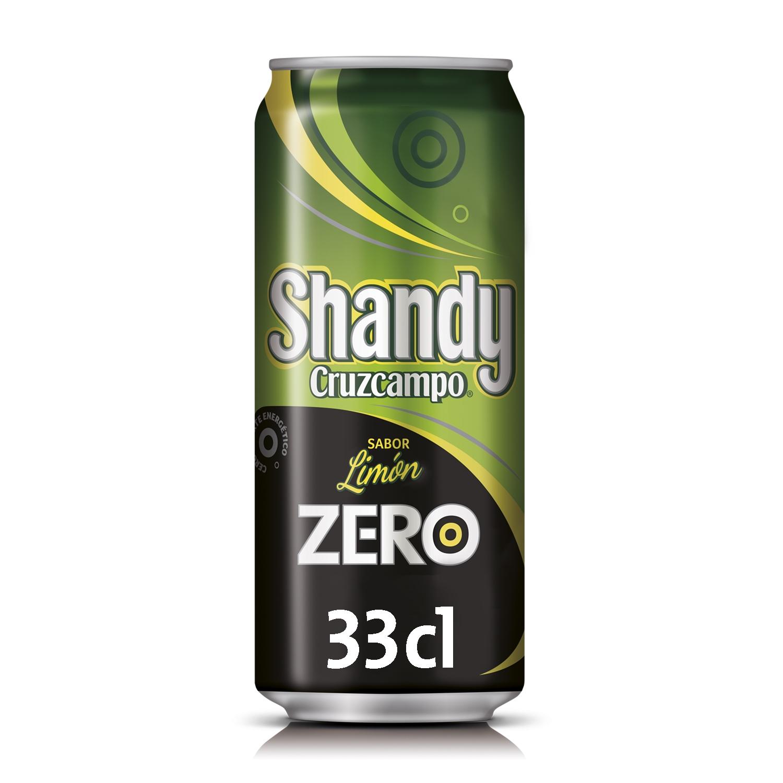 Cerveza Cruzcampo Shandy Zero con limón lata 33 cl.