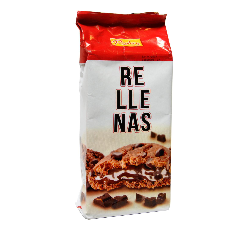 Galletas rellenas de chocolate con pepitas de chocolate Reglero 200 g.