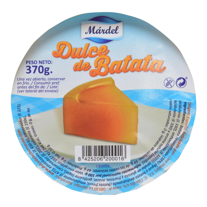 Dulce de batata Márdel sin gluten 370 g. - 2