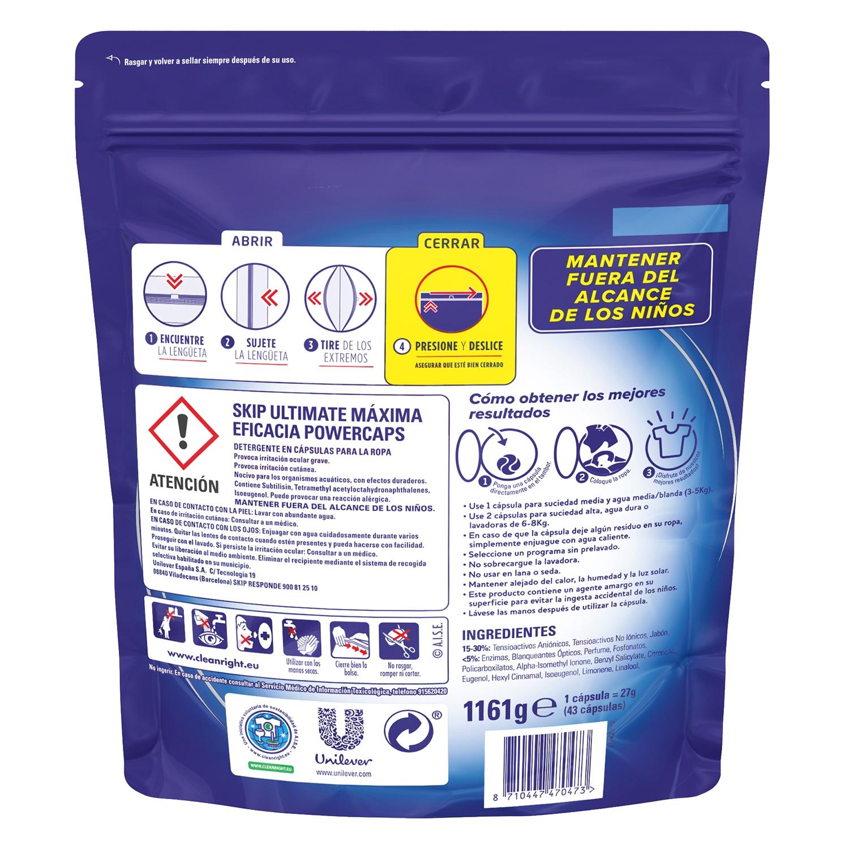 Detergente en cápsulas Ultimate doble acción -
