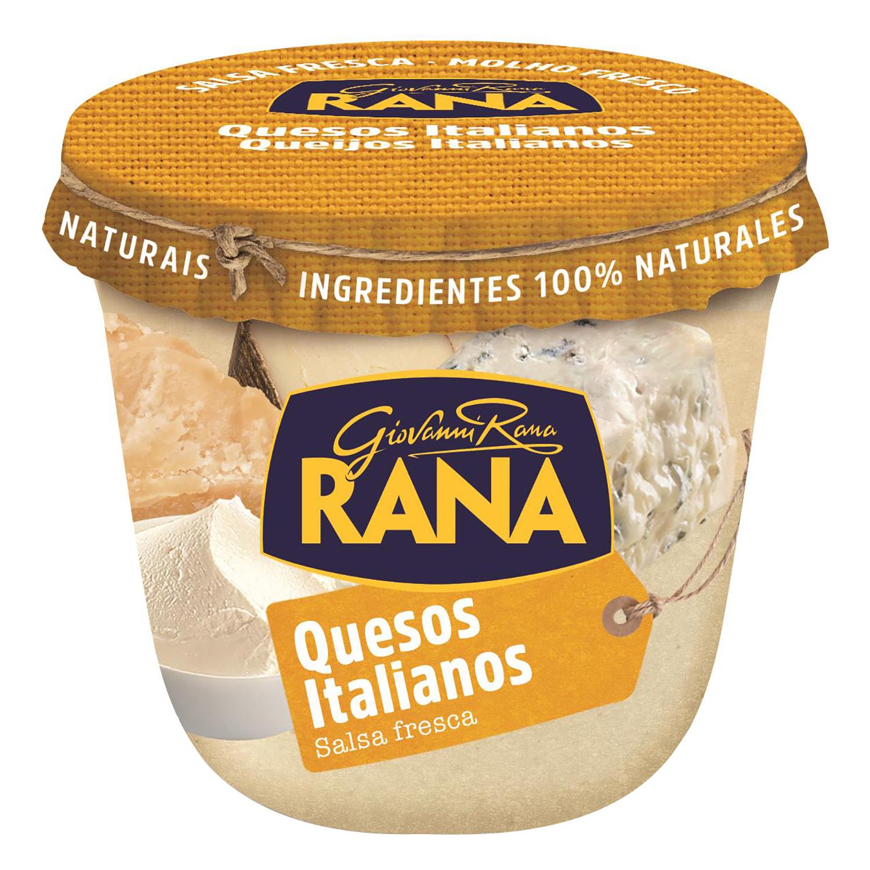 Salsa quesos italianos Rana tarro 180 g.