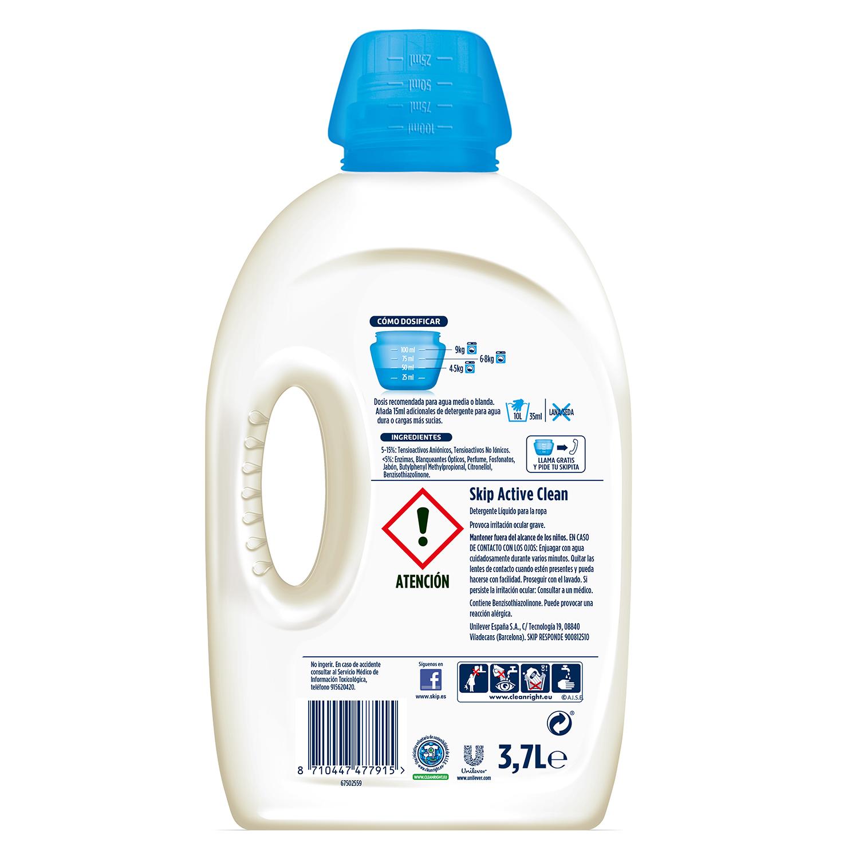 Detergente líquido Active Clean Skip 74 lavados. -