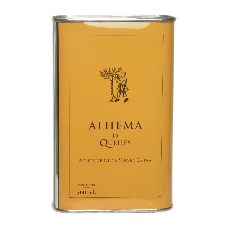 Aceite de oliva virgen extra Alhema de Queiles lata 500 ml.