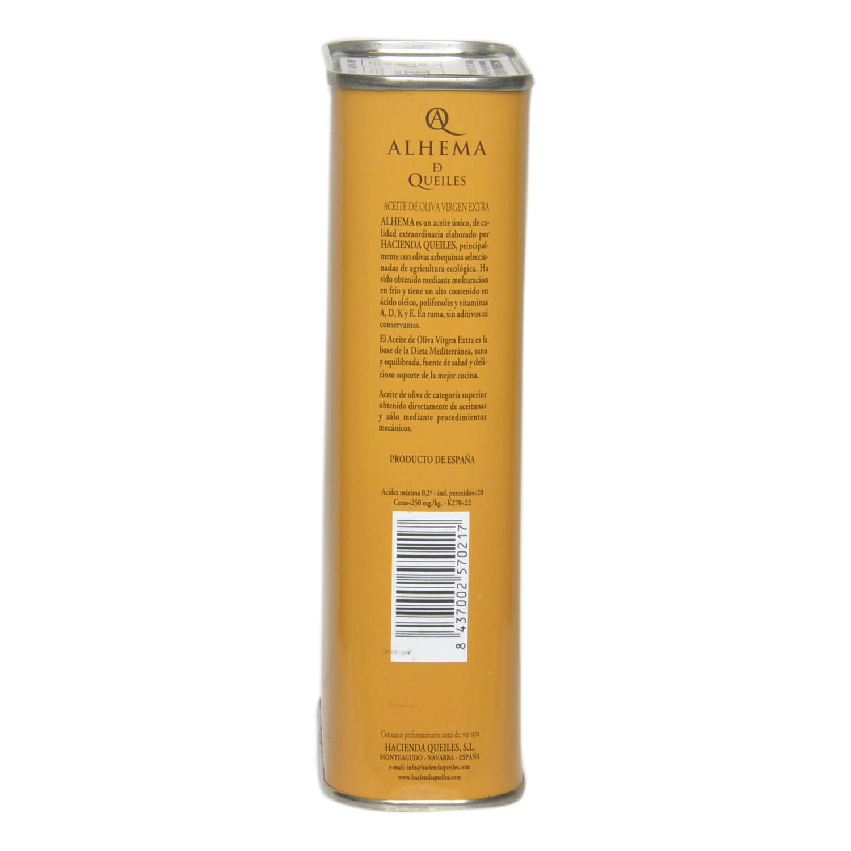 Aceite de oliva virgen extra Alhema de Queiles lata 500 ml. -