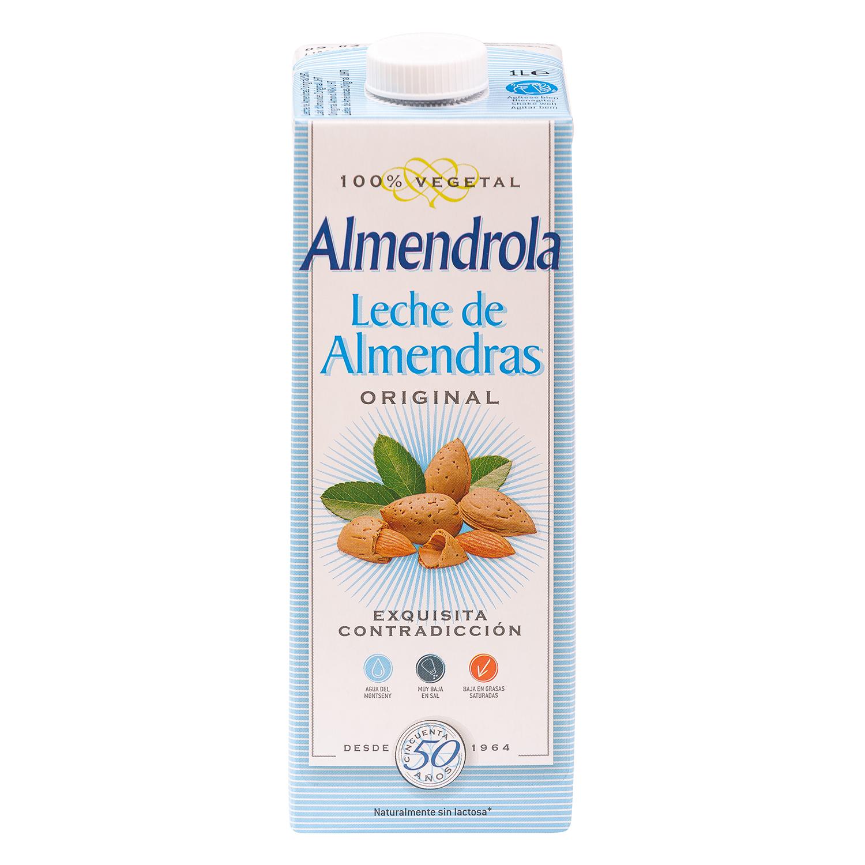 Leche de almendras Almendrola sin gluten brik 1 l.