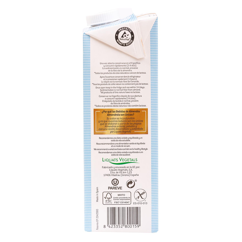 Leche de almendras Almendrola sin gluten brik 1 l. - 2