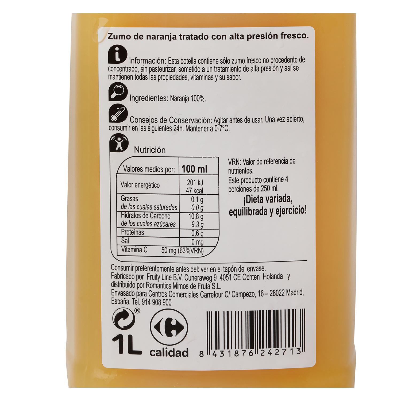 Zumo de naranja Carrefour botella 1 l. -