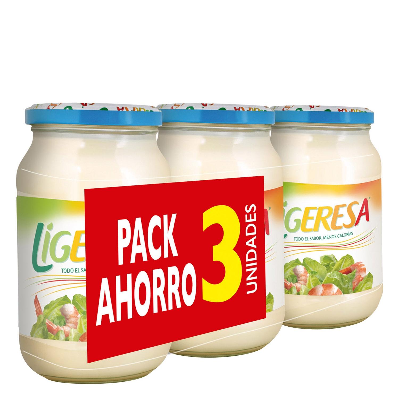 Mayonesa Ligeresa pack de 3 tarros de 210 ml.