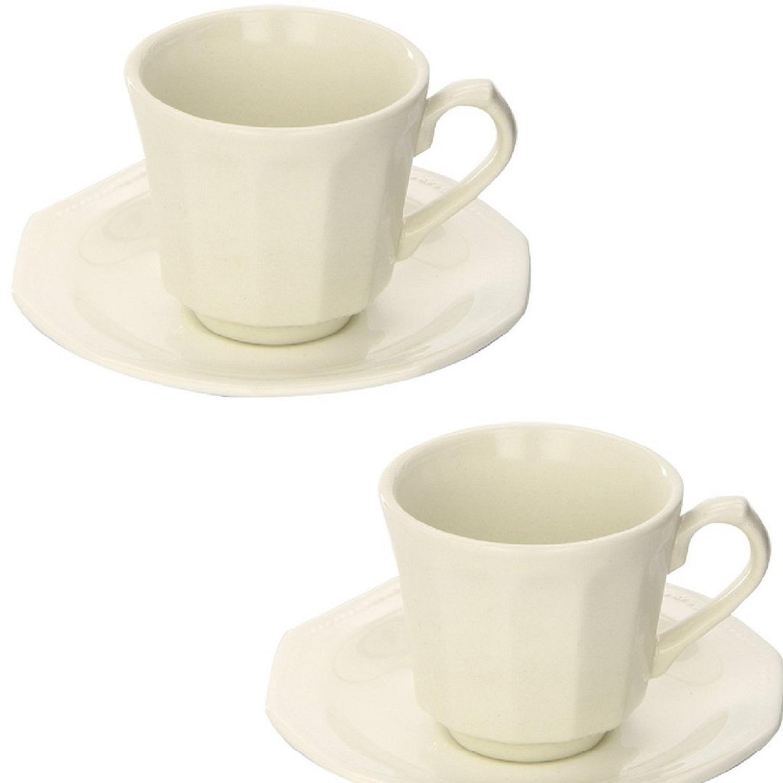 Estuche de 2 tazas con plato Loza CHURCHILL Artic White 16 cl