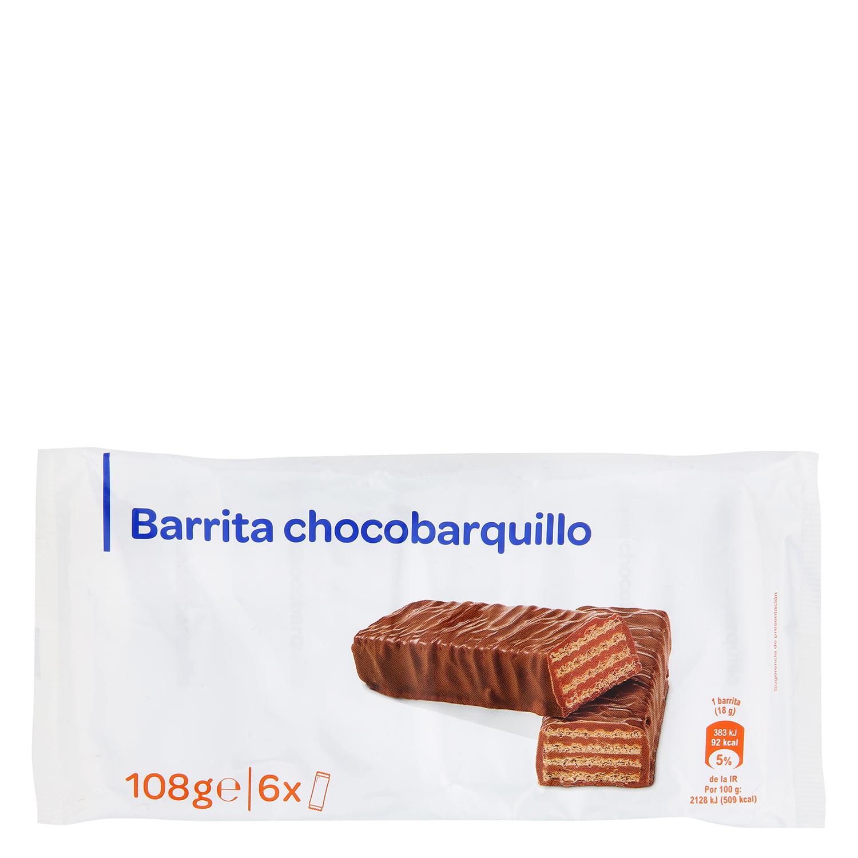Barritas chocolate y barquillo