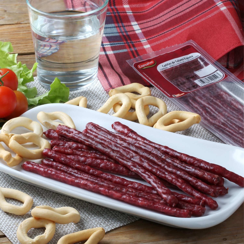 Salami en cañitas Espuña 60 g -