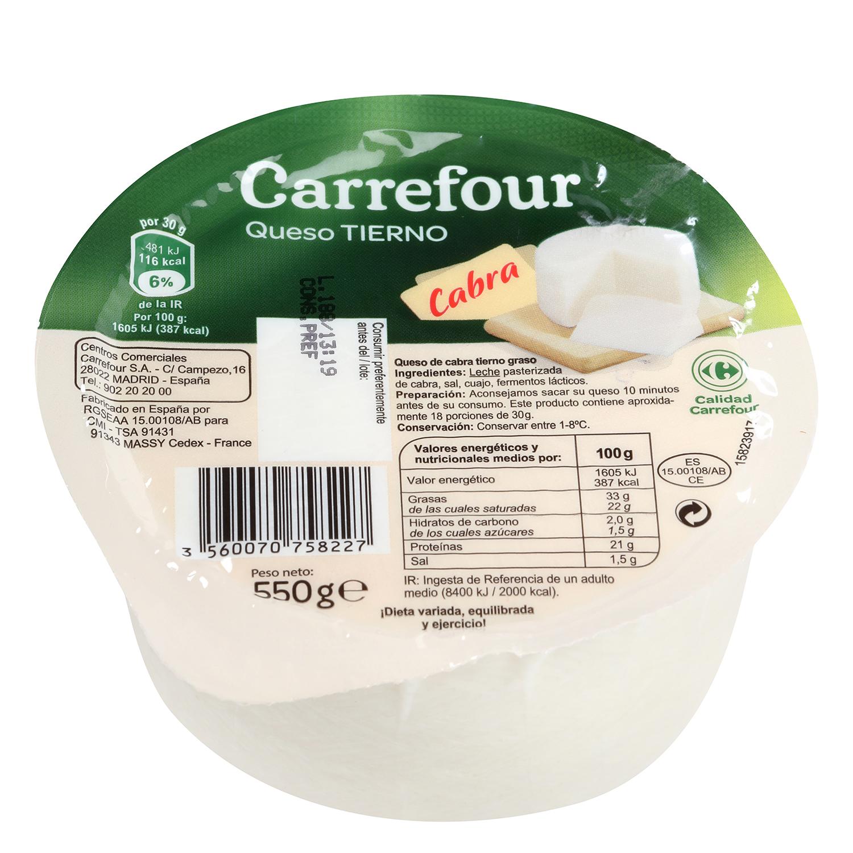 Mini queso tierno cabra carrefour carrefour supermercado - Queso de cabra y colesterol ...