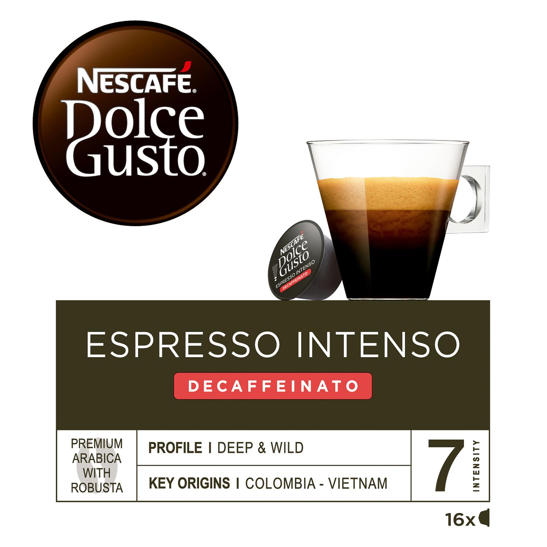 Café espresso intenso descafeinado en cápsulas Nescafé Dolce Gusto 16 unidades de 7 g. -