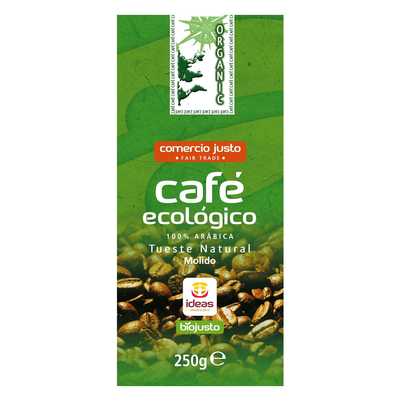 Café molido natural comercio justo ecológico Ideas 250 g.