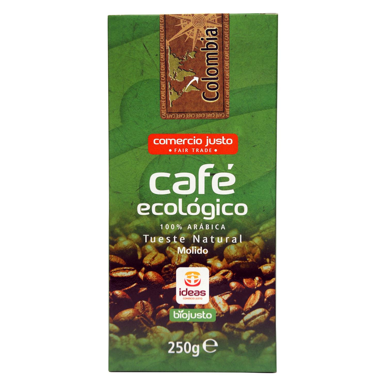 Café molido natural Colombia Bio comercio justo