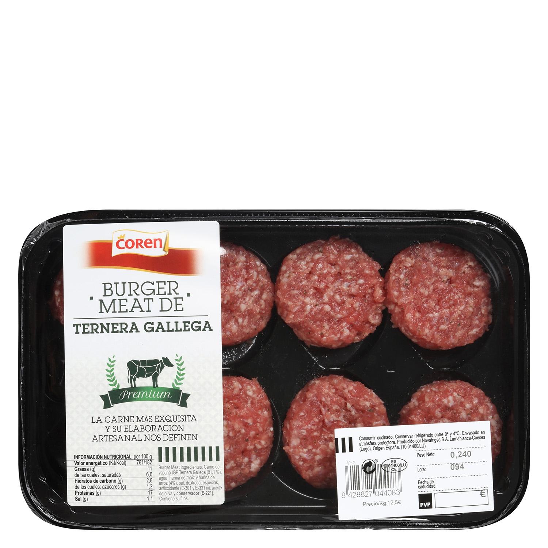 Hamburguesa de Ternera Gallega Burger Meat Nova Frigsa 400 g  - 2