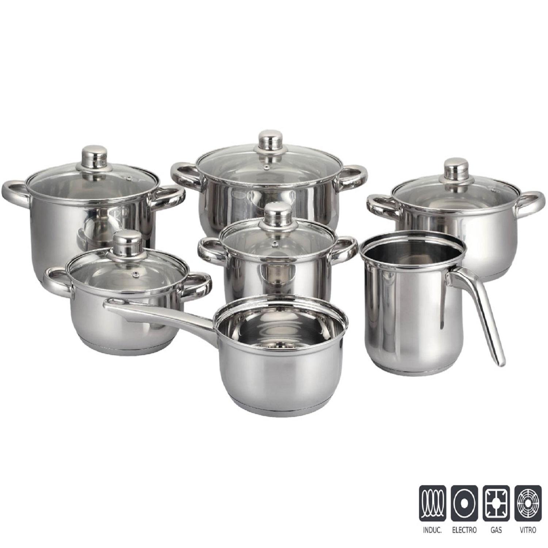 Bateria de cocina de acero aken 12 piezas inox Cocina juguete carrefour