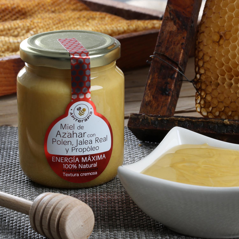 Miel artesana de azahar con Polen, Jalea real y propóleo
