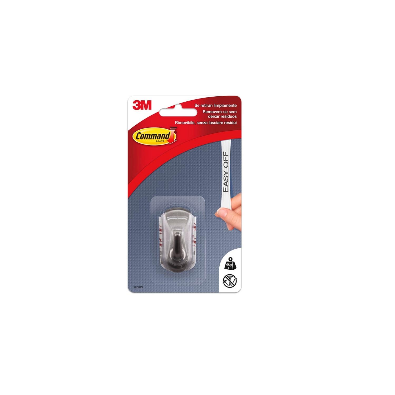 Gancho adhesivo de Plástico 2,7 x 3 x 5,5 cm -Metalizado
