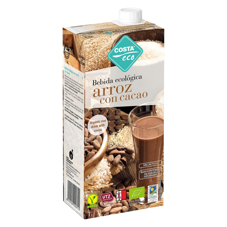 Bebida de arroz ecológica Costa Eco con cacao brik 1 l.