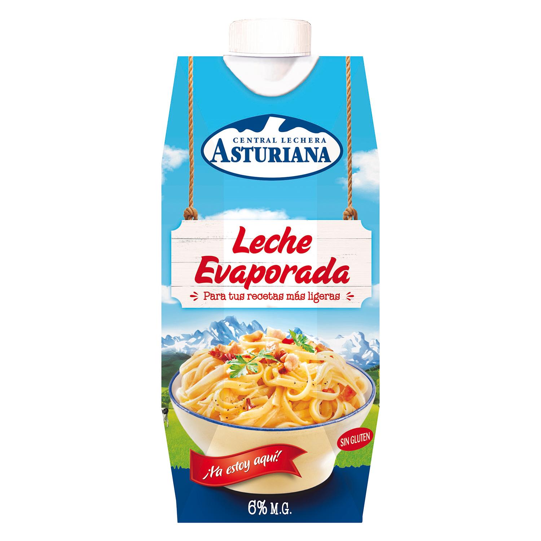 Leche evaporada Central Lechera Asturiana sin gluten 340 g.