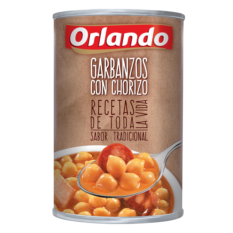 Garbanzos con chorizo Orlando 425 g.