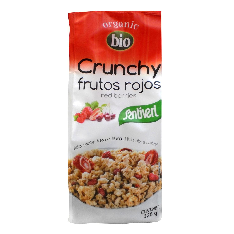 Cereales con frutos rojos ecológicos Crunchy Santiveri 325 g.