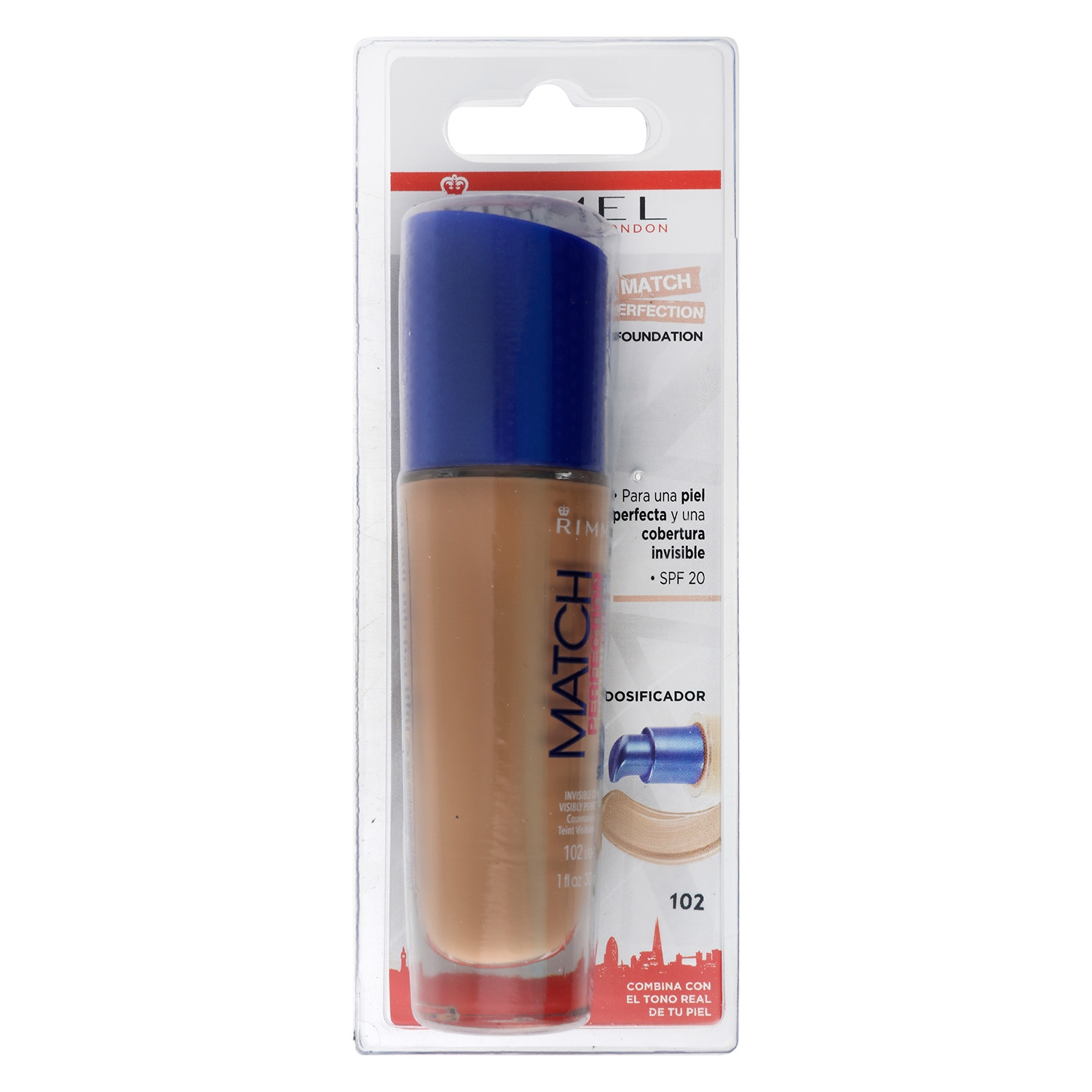 Maquillaje Match Perfection Fundation nº102 light nude