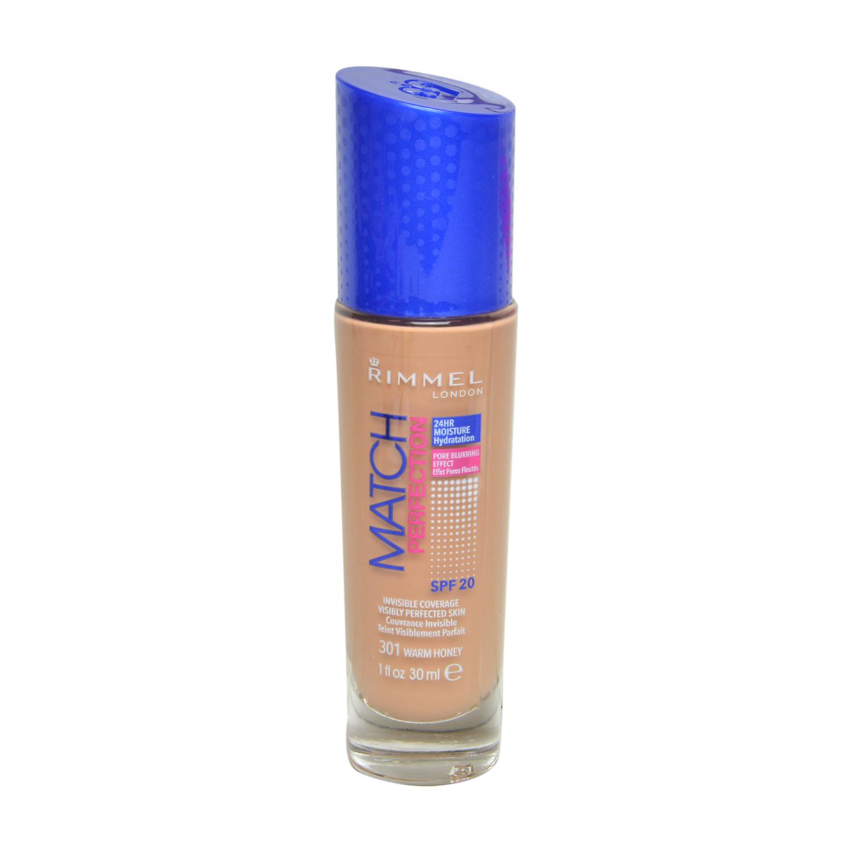 Base de maquillaje líquido Match Perfection nº 301 Warm Honey Rimmel 1 ud.