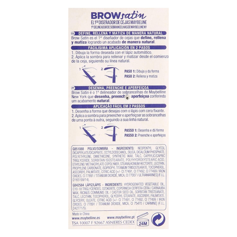 Diseñador de cejas Brow satin dark brown -