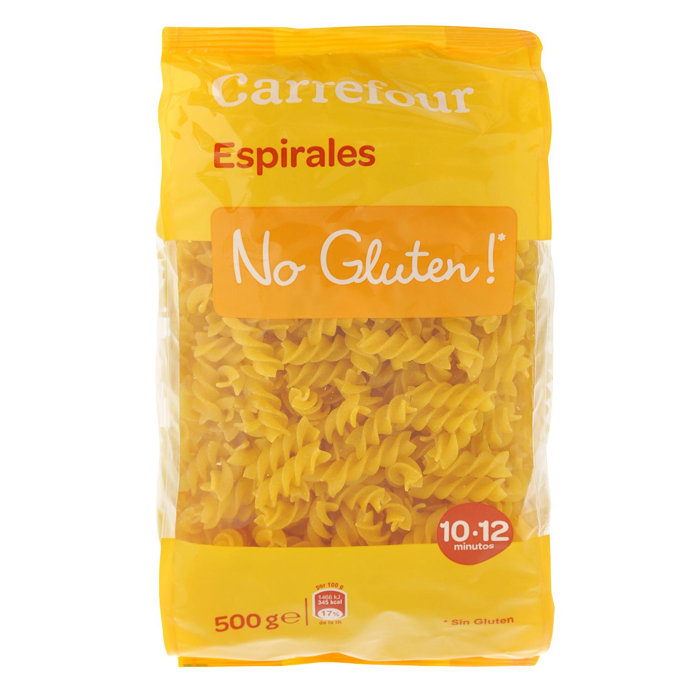 Espirales Carrefour-No gluten 500 g.