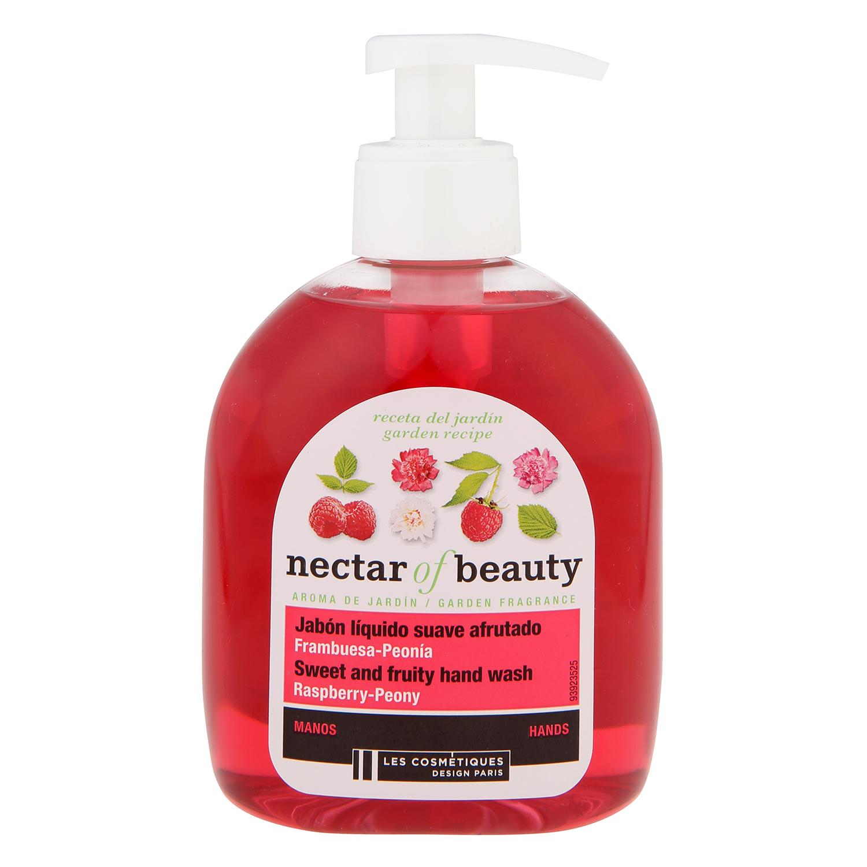 Jabón de manos de frambuesa Les Cosmétiques Néctar of Beauty 300 ml.
