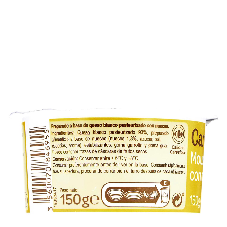 Mousse de queso con Nueces - 2