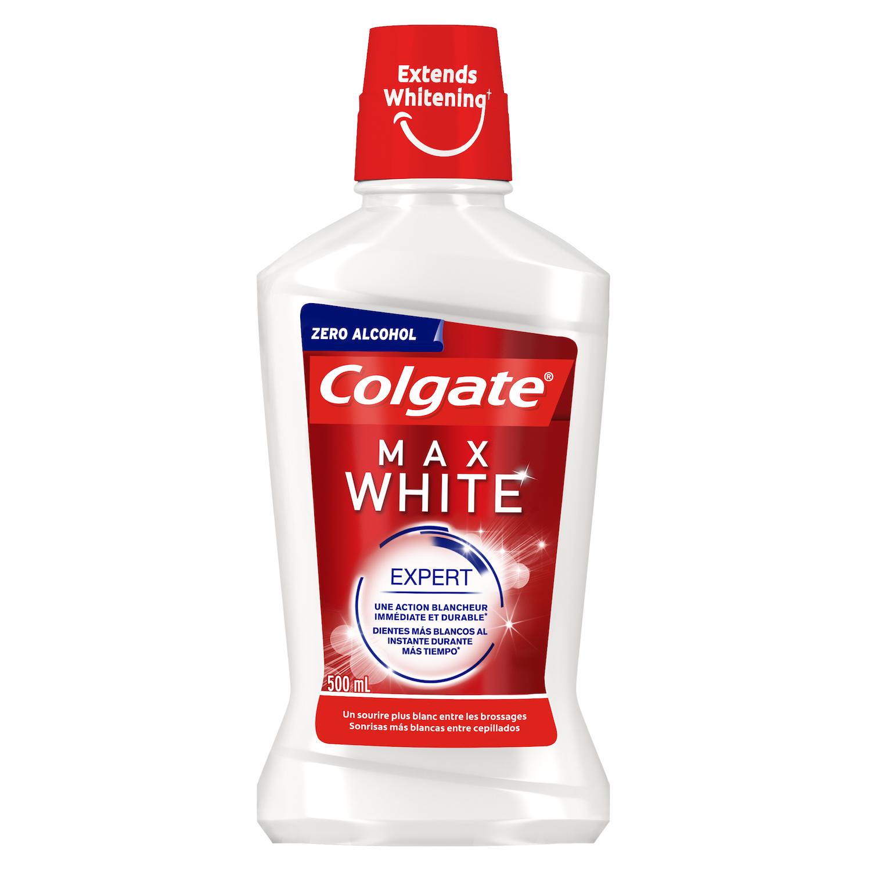 Enjuague Max White sin alcohol Colgate 500 ml.