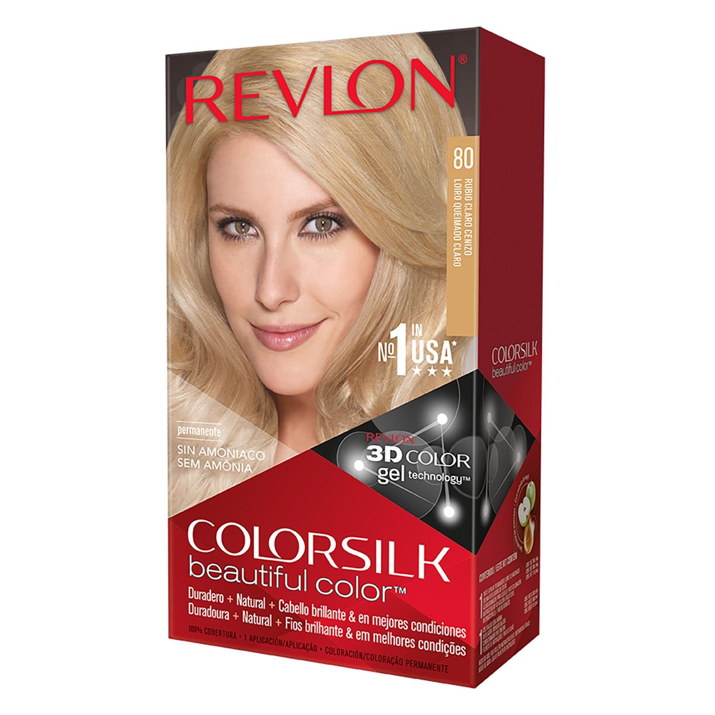 Tinte Colorsilk nº 80 Rubio Claro Cenizo Revlon 1 ud.