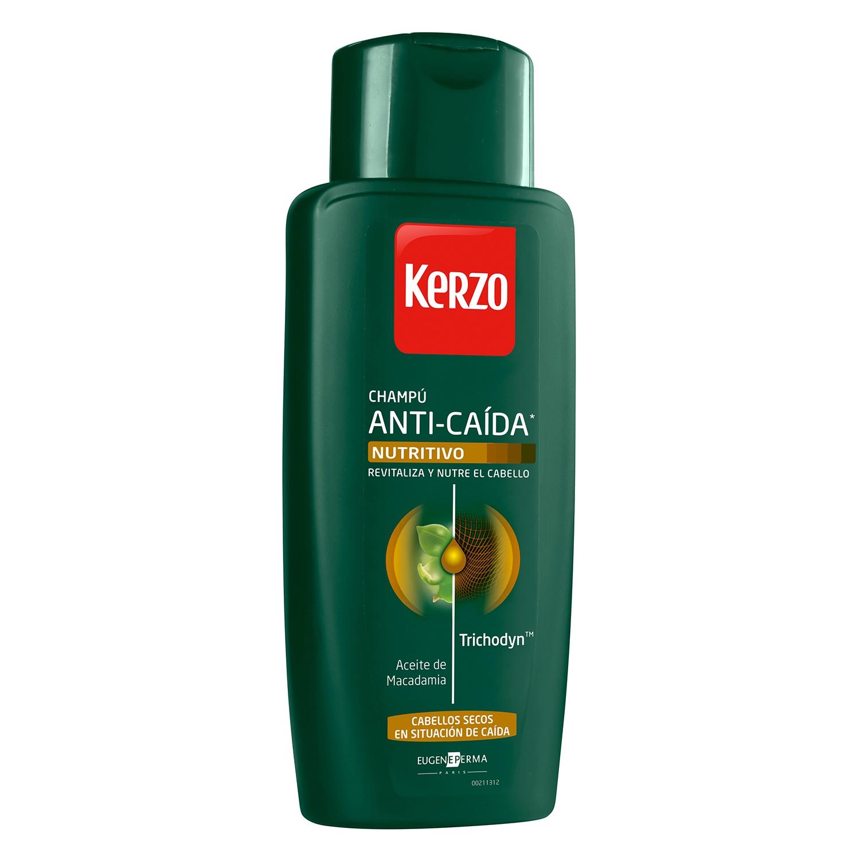 Champú anticaída nutritivo para cabello seco Kerzo 400 ml.