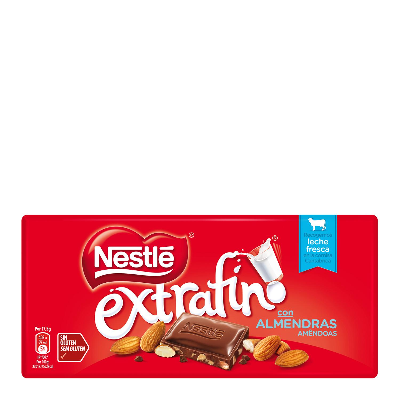 Chocolate con almendras extrafino Nestlé sin gluten 123 g.
