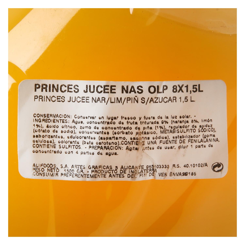 Refresco de naranja,limón y piña Jucee con gas botella 1,5 l. - 2