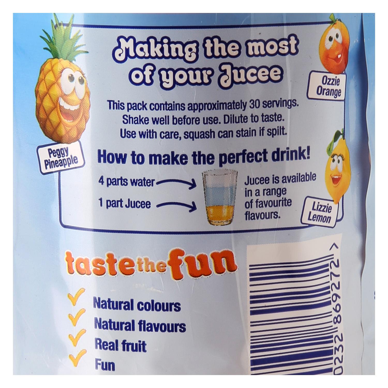 Refresco de naranja,limón y piña Jucee con gas botella 1,5 l. -