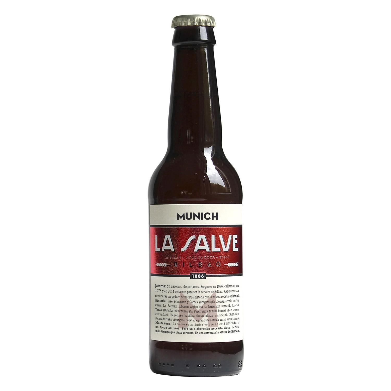 Cerveza Munich La Salve de Bilbao botella 33 cl.