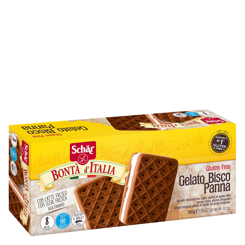 Galleta rellena de helado sin gluten