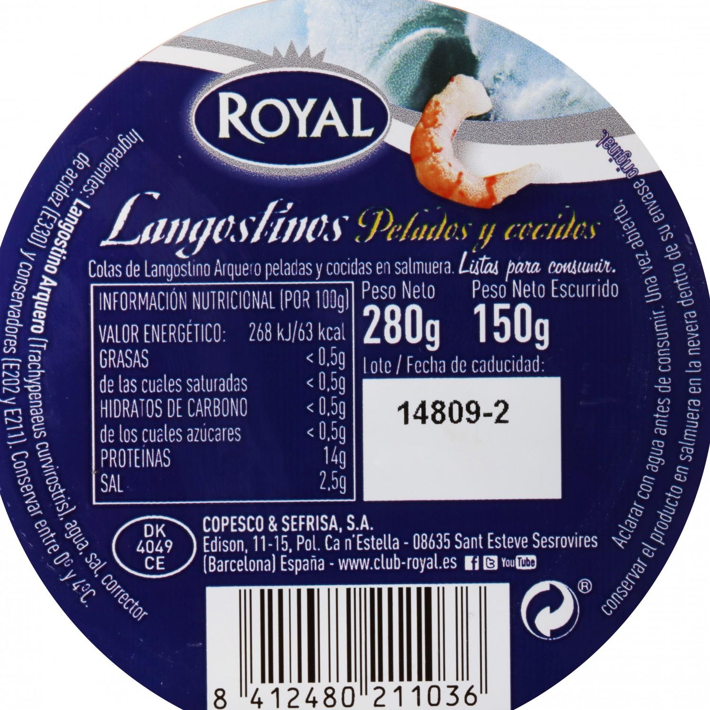 Colas de langostino Royal 280 g - 3