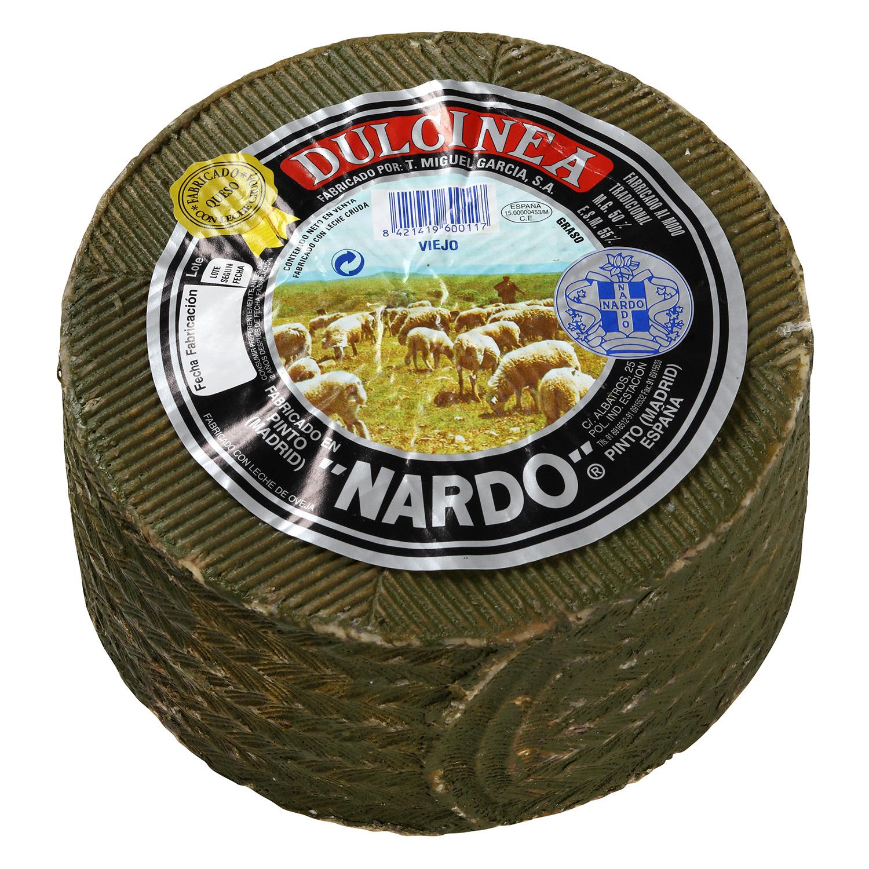 Queso puro de oveja viejo leche cruda al romero Dulcinea Nardo al corte 300 g aprox